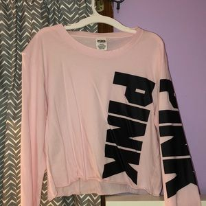 VS Pink crop top. Super cute.